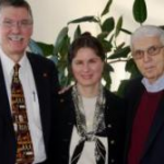 "Drs. Dan and Jane Hinshaw (left) with our faculty member, Dr. Albert C. Rossi, just before presenting their seminar, ""Spiritual Issues in Suffering and Palliative Care."""