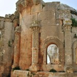 A general view of an old Byzantine church in the Druze village of Loza, in Idlib province. (AFP, File)