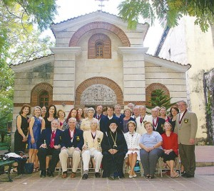 Archons and other guests pause for a commemorative photo before St. Nicholas Cathedral with Metropolitan Athenagoras.