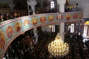 Cypriots attend Sunday service at Saint-Mamas Orthodox church in the capital Nicosia on March 24, 2013 (AFP/File, Barbara Laborde). Cyprus's wealthy Orthodox Church stands to lose more than 100 million euros in the bailout deal reached with international creditors early Monday, its leader Archbishop Chrysostomos said.