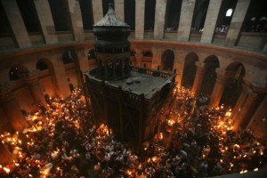 Reuters/Steve Crisp Shown is the Church of Holy Sepulchre during a Holy Fire ceremony in Jerusalem's Old City.