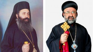 This combo pictures shows Greek Orthodox Bishop, Boulos Yaziji (left), and the Syrian Orthodox Bishop Yohanna Ibrahim. (Image from orthodoxwiki.org and syrianchurch.org)