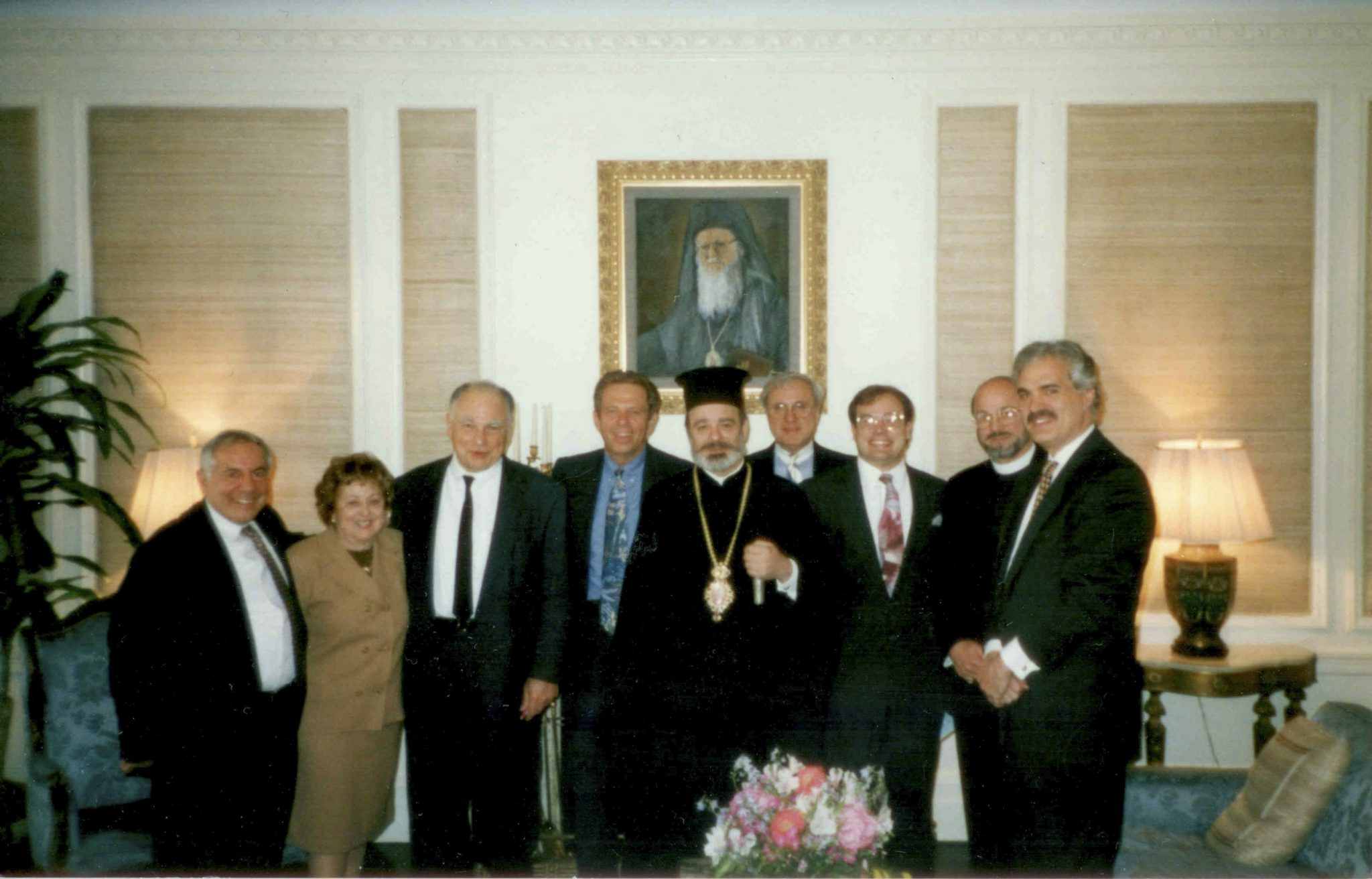 Anastasia Tsotsoura (far left) with Archbishop Spyridon and members of the OCL Board.
