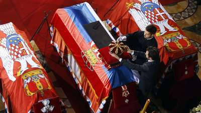 State funeral for deposed King Petar II Karadjordjevi