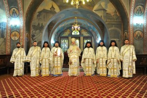 Patriarch Daniel with clergy