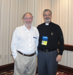 Fr. Steven Voytovich with the Rev. Deryck Durston, ACPE's Interim Executive Director.