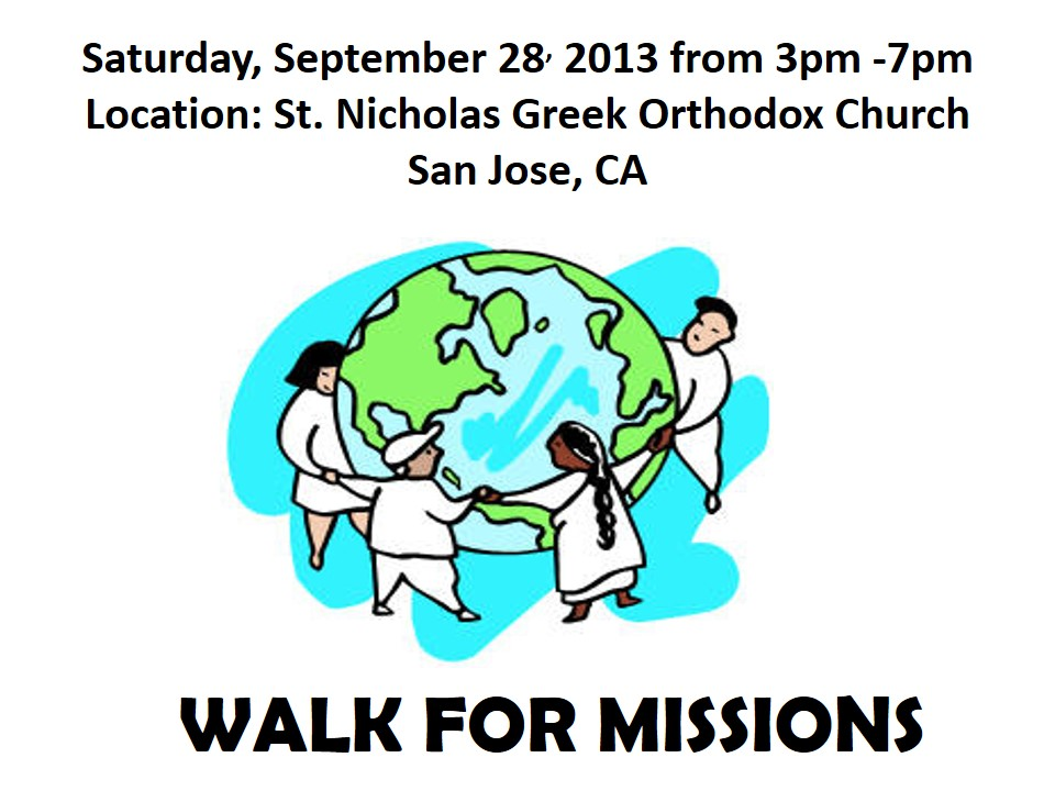 Walk for Missions, sept 28