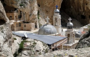View of Saint Thecla (Mar Takla) monastery, in Maaloula, Syria. (Bernard Gagnon/Wikimedia Commons)
