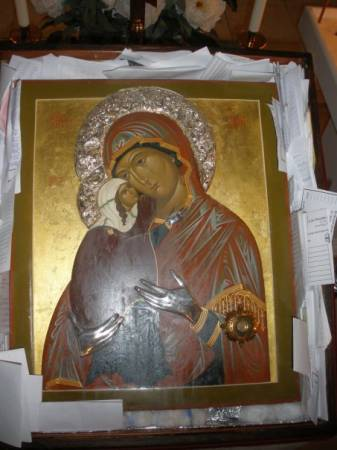 icon, St. Anna, weeping icon