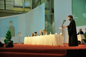 Russian Orthodox Metropolitan Hilarion of Volokolamsk addresses the Assembly of the World Council of Churches in Busan, South Korea on November 1, 2013.PHOTO: RUSSIAN PATRIARCHATE