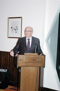 Michael Jaharis, the host along with his wife, Mary, noted the passing of Peter Kikis and Dr. Andre Dimitriades.