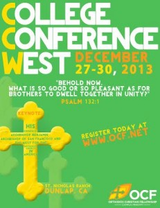 College Conference West: CA @ St. Nicholas Ranch & Retreat Center  | Dunlap | California | United States