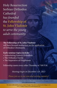 THE FELLOWSHIP OF ST. JOHN VLADIMIR @ Holy Resurrection Serbian Orthodox Cathedral | Chicago | Illinois | United States