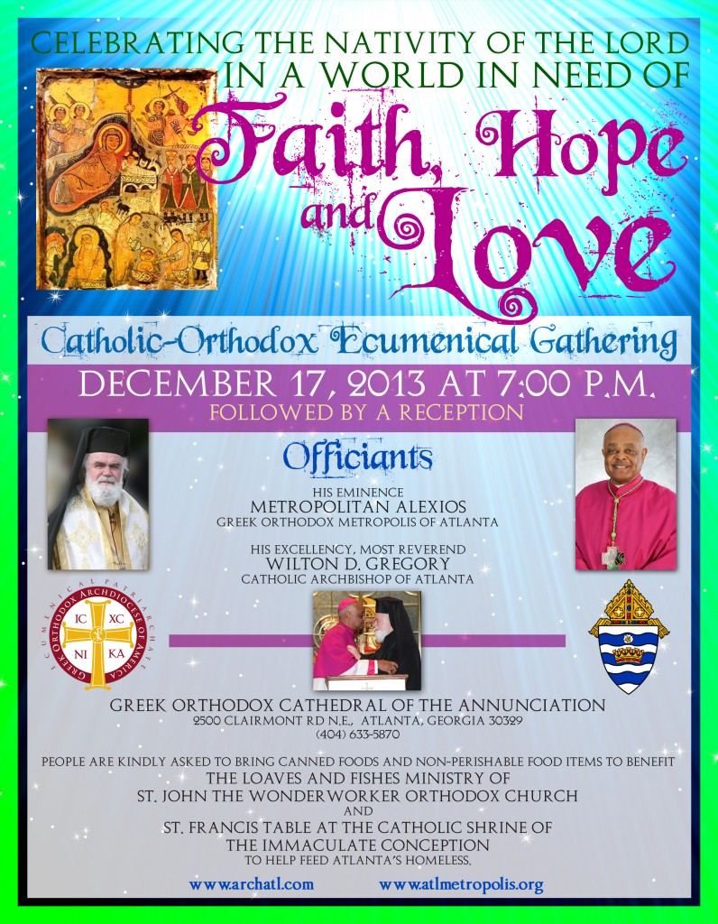 Catholic & Orthodox Ecumenical Gathering in Atlanta, December 17 @ Greek Orthodox Cathedral of the Annunciation | Atlanta | Georgia | United States