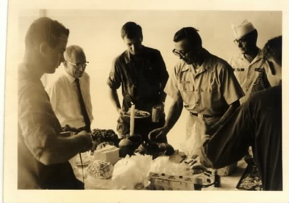 Fr. Michael Margitich blesses paschal food in Saigon in 1968.
