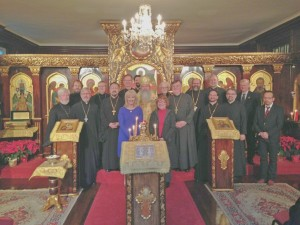 Chancellors, Treasurers and Chancery Staff with His Beatitude, Metropolitan Tikhon