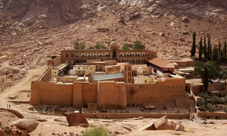 The holy monastery of St. Catherine at mount Sinai (Photo: courtesy of the official website of the monastery)