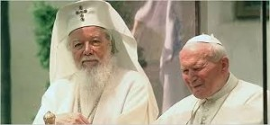 Patriarch Teoctist with Pope John Paul II