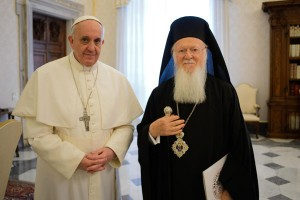 Ecumenical Patriarch Bartholomew and Pope Francis
