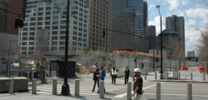 "The church will be built on top of the Port Authority""s concrete platform."