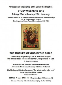 Study Weekend 2015: England @ Orthodox Parish of St John the Baptist & St Alban the Protomartyr c/o St. Christopher's Church  | Luton | United Kingdom