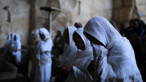 MOSA'AB ELSHAMY / AP IMAGES Ethiopian Orthodox Christians praying in Cairo church.