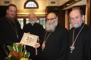 St. Vladimir's Seminary to Confer Honorary Degree on Patriarch John X Greek Patriarch of Antioch and All the East (L to R) Fr. John Behr, His Eminence Metropolitan Joseph, Patriarch John, Fr. Chad Hatfield (photo: Dn. G. Hatrak)