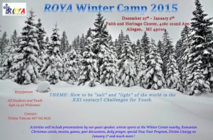 2015 WINTER CAMP OF THE ROMANIAN ORTHODOX YOUTH IN THE AMERICAS (ROYA): MI @ Faith and Heritage Center | Allegan | Michigan | United States