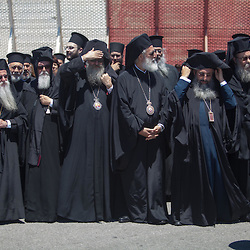 The arrival of Ecumenical Patriarch Bartholmew at Chania airport for the Holy and Great Council.