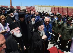 His All-Holiness Ecumenical Patriarch Bartholomew arrives at Chania airport in Chania, Crete accompanied by members of the Holy and Sacred Synod of the Ecumenical Patriarchate and Archbishop Demetrios, Geron of America, for the Holy and Great Council. ©2016 GOA/DIMITRIOS PANAGOS.
