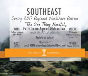 OCF WorkDaze Spring Retreat: SC @ Diakonia Center | Salem | South Carolina | United States