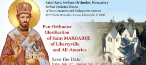 Glorification of St. Mardarije: Libertyville, IL @  St Sava Serbian Orthodox Church | Libertyville | Illinois | United States