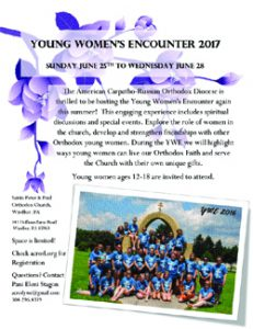 2017 Young Women's Encounter: Windber, PA @ Sts Peter and Paul Church | Windber | Pennsylvania | United States