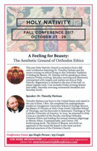 Holy Nativity Annual Fall Conference: Langley, BC @ Holy Nativity Orthodox Church  | Langley | British Columbia | Canada